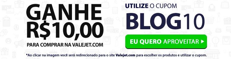 Ganhe R$10,00 para comprar no site Valejet.com