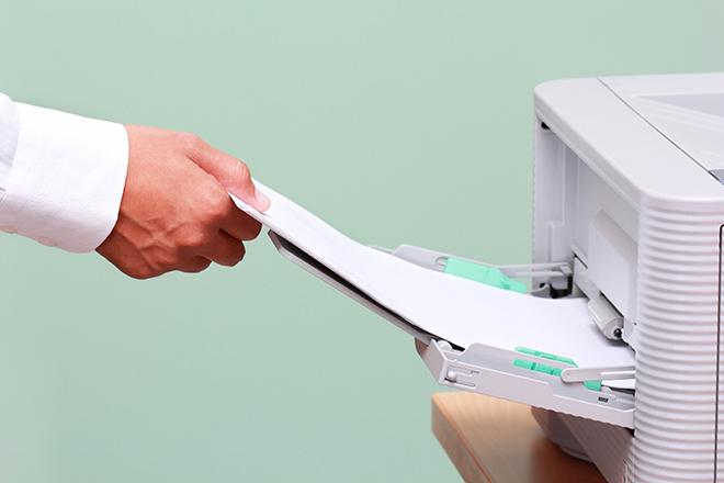 lado errado do papel