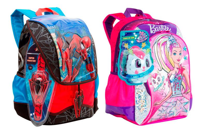 volta-as-aulas-com-mochilas-risca-e-sestini-mochila-sestini-homem-aranha-barbie